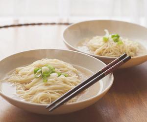 food, noodles, and chopsticks image