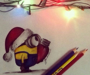 minions, cute, and christmas image