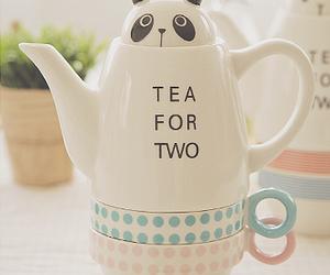 panda, cute, and tea image