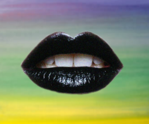 black lipstick, makeup, and pastel image