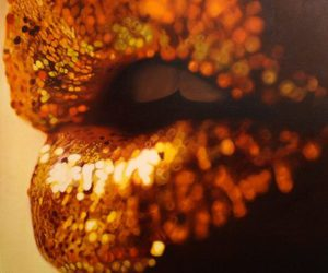gold, lips, and golden image