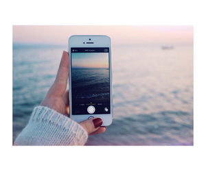 iphone, sea, and photo image