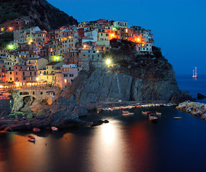 beautiful, Houses, and lights image