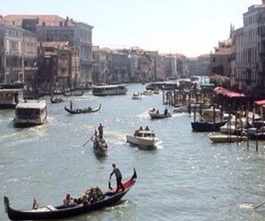 boats, gondola, and italy image