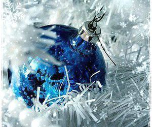 christmas, blue, and new year image