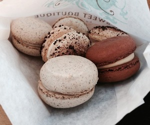 food, macaroons, and chocolate image