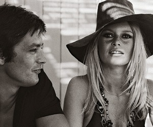 brigitte bardot and Alain Delon image
