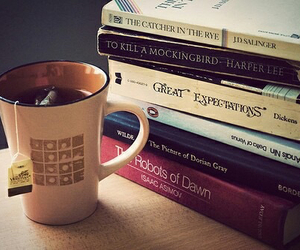 books, cup, and paradise image