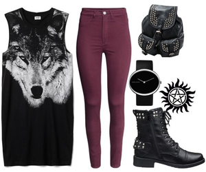 casual, rock, and style image