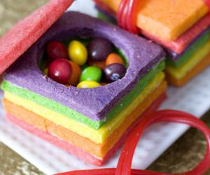 candy, food, and rainbow image