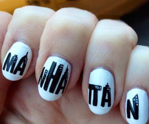 manhattan, nails, and black image