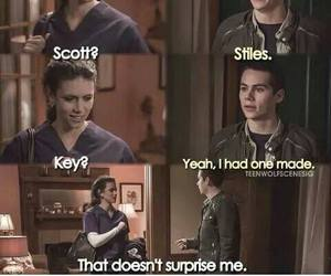 teen wolf, stiles stilinski, and funny image
