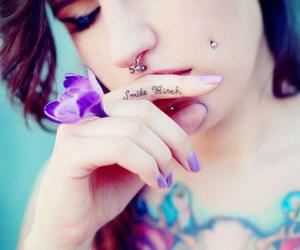 girl, nice, and inked image