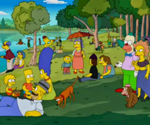 seurat and simpsons image