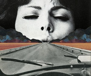 art, road, and car image
