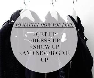 dress, get up, and give up image