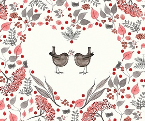 berries, birds, and red image