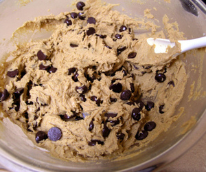 cookie dough, food, and Cookies image