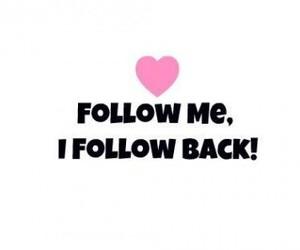 follow, follow me, and heart image