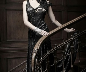 dress, gothic, and pale image