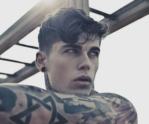 tattoo, model, and Hot image