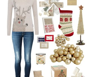 christmas, Polyvore, and clothes image