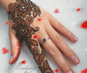 design, henna, and mehndi image