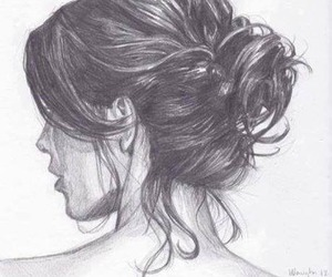 beauty, draw, and girl image