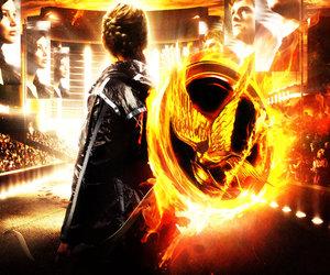 katniss, hunger games, and peeta image