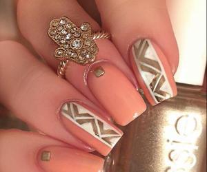 girl, nail art, and pink image