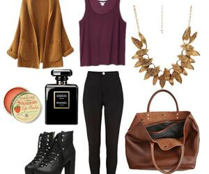autumn, bag, and fashion image