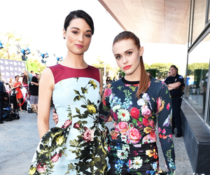 holland roden, crystal reed, and teen wolf image