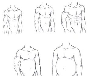 bodies, illustration, and men image