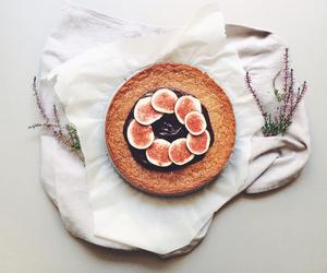 cake, dessert, and fig image