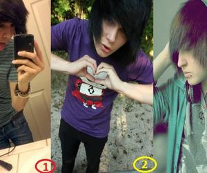 boys, emo, and hair image