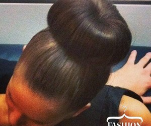 hairstyle, bun, and style image