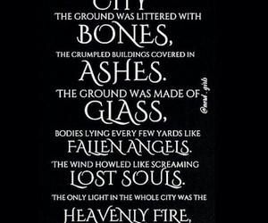 ashes, FALLEN ANGELS, and the mortal instruments image