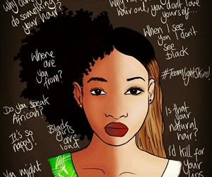 black girl, follow, and curly hair image