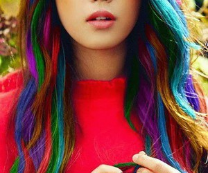 beautiful, colours, and hair image