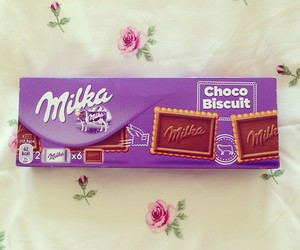chocolate, milka, and biscuits image