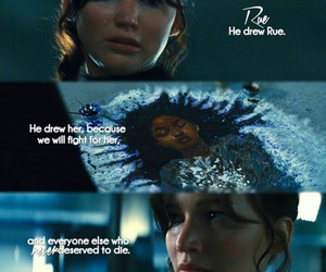 rue, the hunger games, and catching fire image