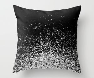 black and white, ombre, and pillow image