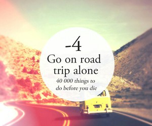 alone, Road Trip, and trip image