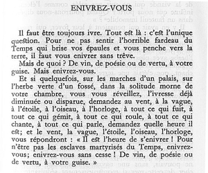 baudelaire, happiness, and drunk image