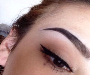 girl, eyebrows, and make up image