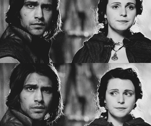 bbc, the musketeers, and d'artagnan and constance image