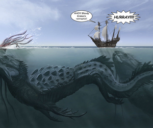 monster, sea, and kraken image