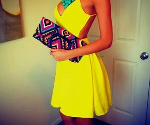 fashion, party, and yellow image