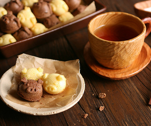 food, tea, and Cookies image