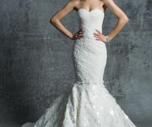 wedding dress, beautiful, and white dress image